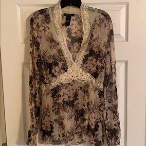 EUC Karen Kane Silk Blouse Size Extra Large